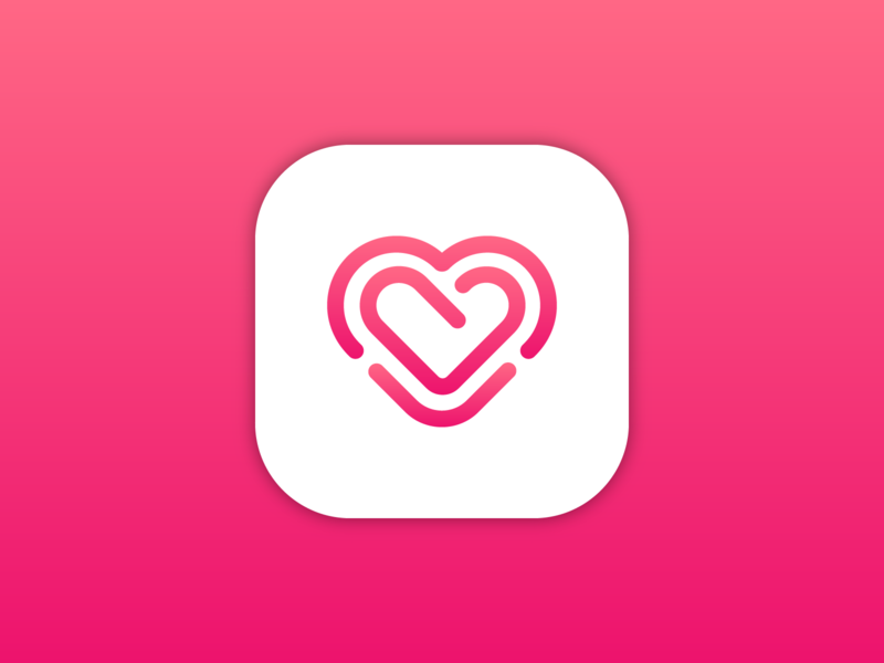 Heart | Icon Design heart logo heart pink logo red logo red logo mark symbol symbol design symbol icon logo mark iconography lithuanian vilnius startup logo icon design icon lithuania branding vector logo design logo