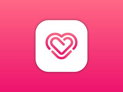 Heart   Icon Design heart logo heart pink logo red logo red logo mark symbol symbol design symbol icon logo mark iconography lithuanian vilnius startup logo icon design icon lithuania branding vector logo design logo