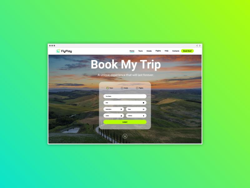 FlyPlay | Website UI/UX booking app contact form website design web design uiux design uiux ui wordpress development wordpress theme tourist tourism travel agency italy vilnius startup logo lithuania branding