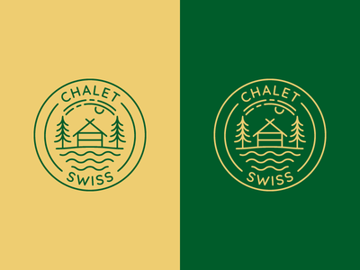Chalet Swiss | Logo proposal switzerland swiss vector illustration natureboy scout camping forest logo forest nature resort logo vintage logo design old style hipster vintage logovector draft logo lithuania