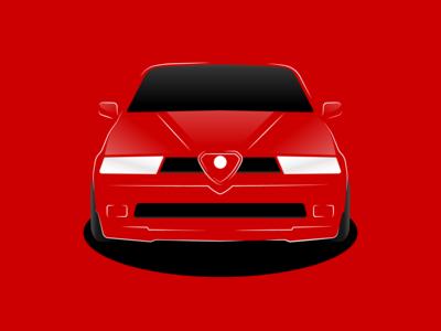 Alfa Romeo 155 | Illustration