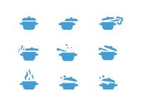 Recipe cooking icon study