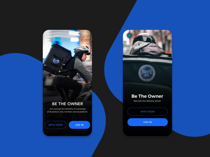 Delivery Service App Proposal-Splash splashscreen delivery service delivery app ux ui design mobile app mobile concept app courier