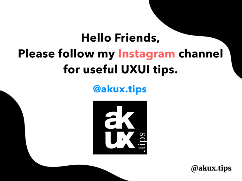 akux.tips Instagram Channel mobile mobile app uxconsultant uxtips instagram post instagram user experience userinterface ux ui design