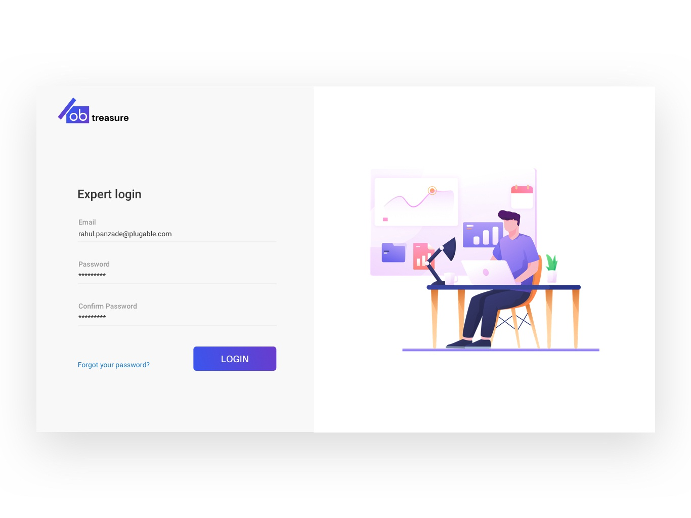 Login screen for admin panel by ashish karoshi on Dribbble