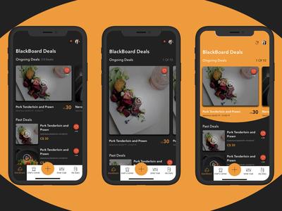 Restaurant App- 2 Dashboard deal hotel app food app dark mode dark ui mobile ui restaurant