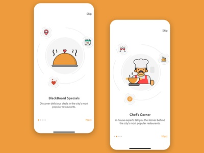 Onboarding Screens - Restaurant App