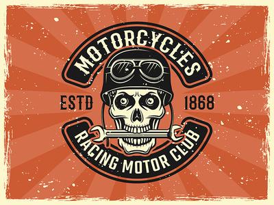 Biker club emblem