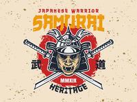 Samurai warrior emblem