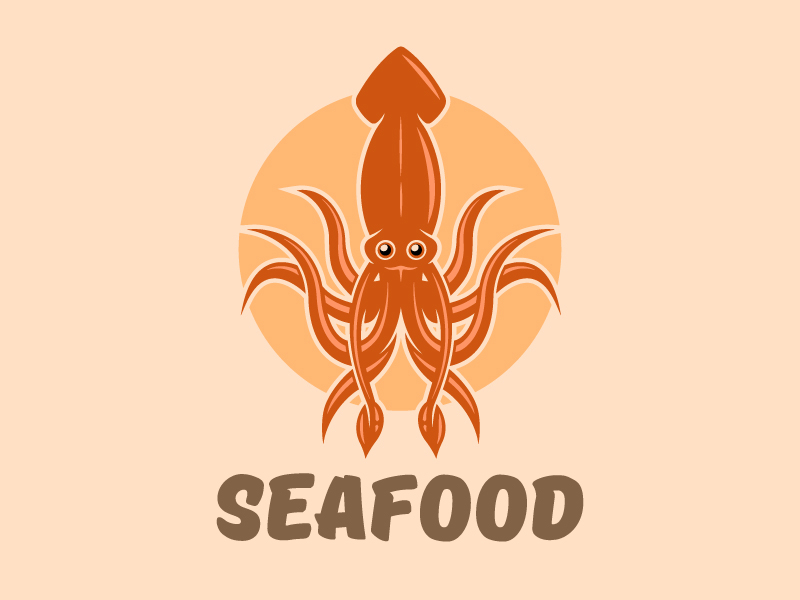 seafood logo concept by flat enot on dribbble seafood logo concept by flat enot on