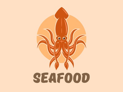 Seafood logo concept