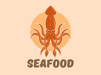 Seafood logo concept