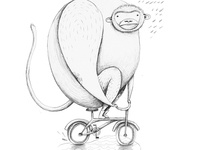 Cranky Monkey (drawing)