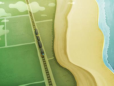 Nederland landscape transportation illustration nederland trainride travel sea train netherlands