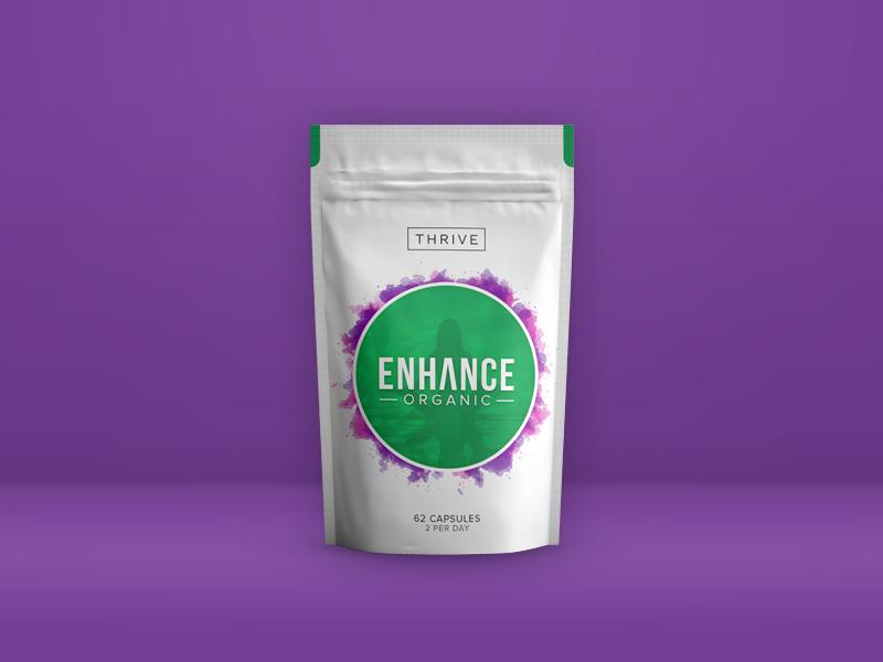 Thrive Enhance Packaging organic pouch supplement supplements green tea packaging