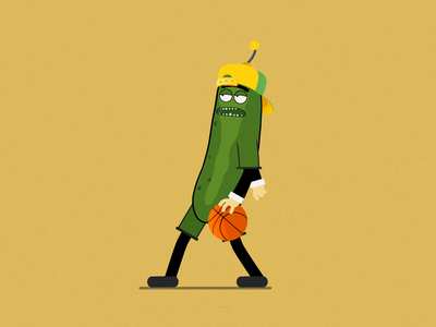 Pickle Rick - Basketball Master motivation frame by frame frame bounce happy happybounce walking player loop illustration after effect motion graphics animation basketball pickle morty rick inspiration social media profiles