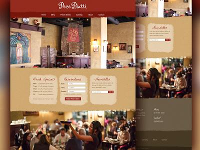 Mediterranean Restaurant Homepage restaurant mediterranean local homepage website atmosphere poco responsive texture