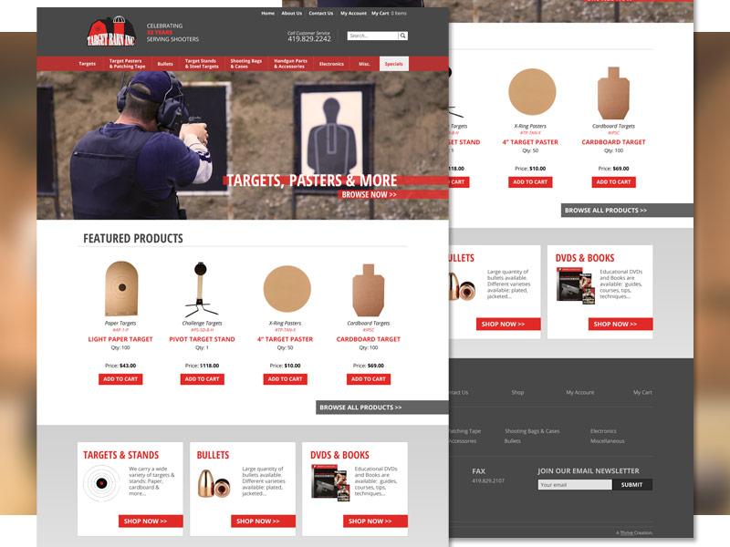 Target Barn Homepage target barn homepage web design site bullets warehouse wholesale commerce targets