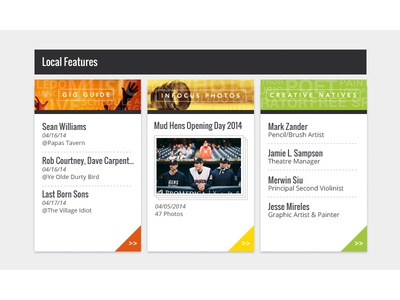 Feature Boxes v2 local features box elements callout website panels ui