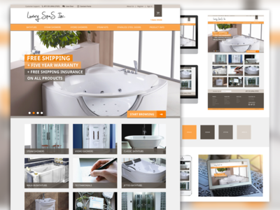 Spa-tacular Homepage spas ecommerce shop website luxury board appliance responsive e-commerce homepage