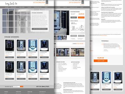 Spa-tacular Subpages spas ecommerce shop website luxury appliance responsive e-commerce subpage detail product bath