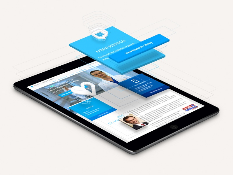 Website Infographic website infographic exploded components tablet web graphic 3d