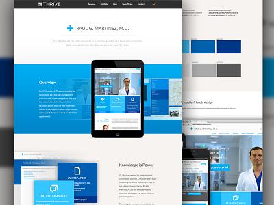 Portfolio Case Study Pages case study portfolio responsive thrive web design color palette
