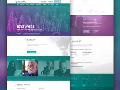 Proposed Hospice Homepage website design web hospice medicare medical ohio responsive