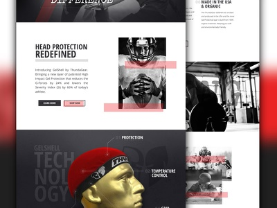 Head Protection Sports Site football responsive design website head protection headwear sports thundagear