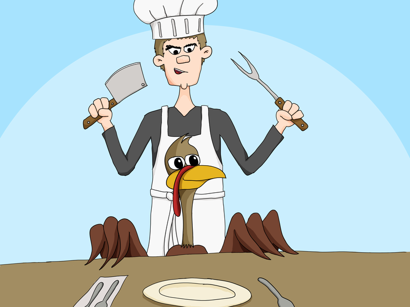 What's for Thanksgiving Dinner? supper dinner thanksgiving chef turkey drawing