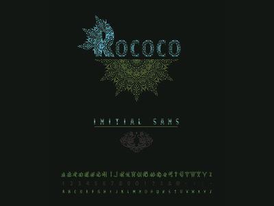 Rococo - Initial Sans