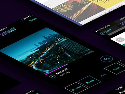 NIGHT app details ui ux iphone app night mobile design ios social app