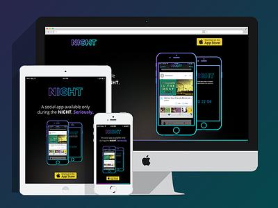 Night Responsive Design night web design responsive design ui ux design web responsive