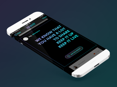 Join the Night screen ui ux iphone ios design mobile app night