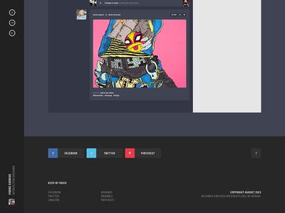 Personal portfolio / Footer