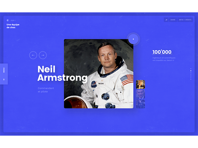 Apollo 11 — Neil Armstrong technology space nasa apollo narrative documentary ui web design pierre georges nerval