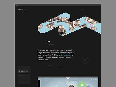 Portfolio button text info dark portfolio minimal ui web design pierre georges nerval