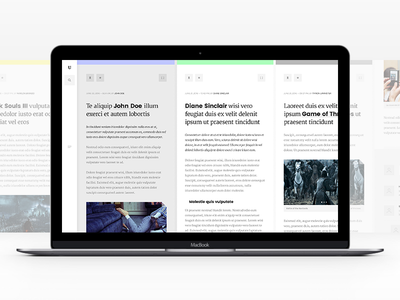Uchronic v2 layout horizontal typography blog article text clean minimal ui web design pierre georges nerval