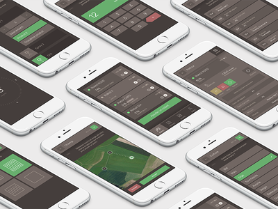 App for autonomous robotic technology agriculture environment tech robot ux ui flat mobile application app