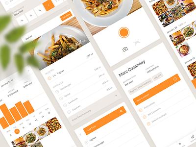 Food Tracking App machine learning food data ux ui flat mobile application app