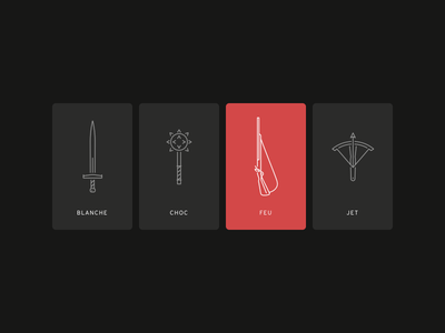 Medieval Weapon gun sword castle cards minimal vector weapon medieval illustration icons