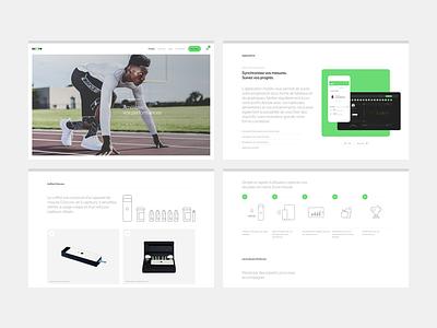 O2score health technology app tool sport minimal clean white ux ui website