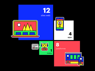 Illustration minimal report annual rgb line digital web icon illustration