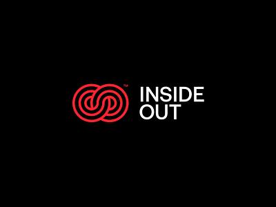 INSIDE OUT — Logo dark visual identity graphic design branding label music logo