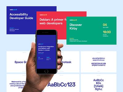 Webmardi — Branding webmardi typo typography meetup web visual identity branding logo