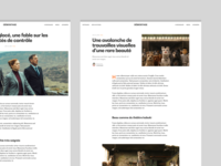 DÉMONTAGE – Articles dogs grid layout clean typography movie cinema article blog