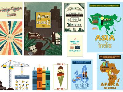 Illustrator Projects artworks marketing inspiration faith design jw vector illustration graphic design