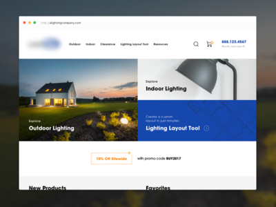 Ecommerce Home Page ux ui web