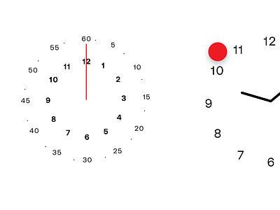 Swiss Timepieces UI car ui automotive communication simple clean timepiece clock ui design uidesign modernism red swiss design ui