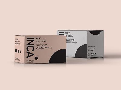 Inca Sustainable Chocolate packagingdesign crisp clean modernist scandinavian packaging mockup print design mockup packaging design packaging typography vector branding logo design